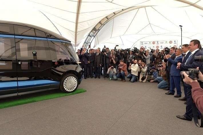 Беспилотный электробус представили вКазани специалисты ПАО «КАМАЗ»