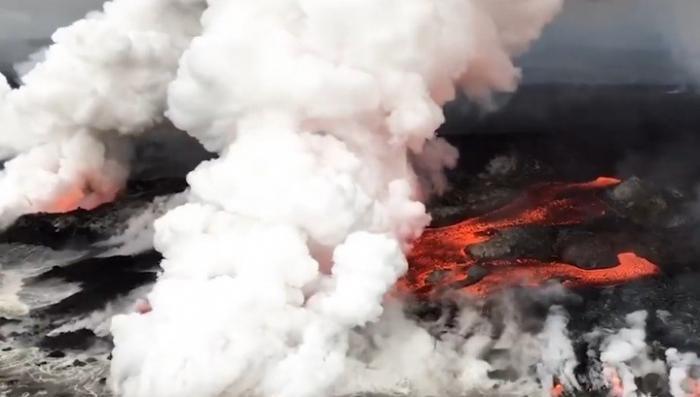 Извержение на Гавайях: геологическая служба США опубликовала впечатляющие кадры стихии