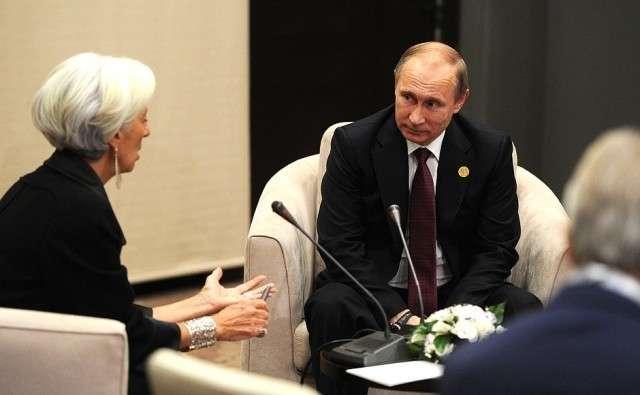Кристин Лагард и Владимир Путин