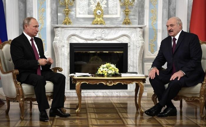 В Минске состоялась встреча Владимира Путина с Александром Лукашенко