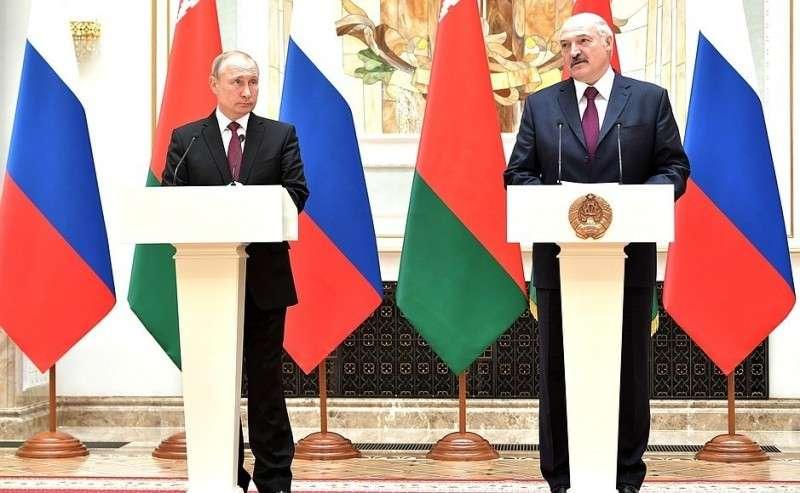 C Президентом Белоруссии Александром Лукашенко. Заявление для прессы поитогам заседания Высшего Государственного Совета Союзного государства.