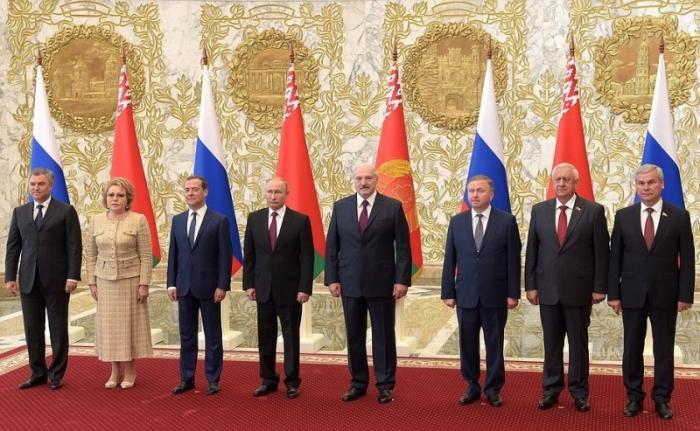 Заседание Высшего Госсовета Союзного государства России и Белоруссии