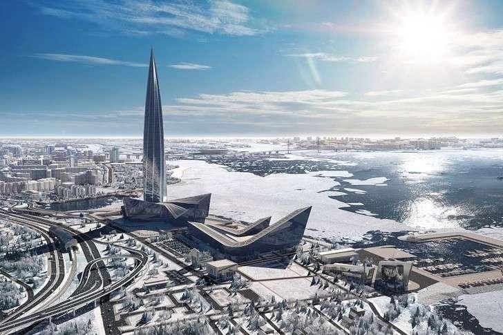 Петербург. Строительство башни «Лахта Центра» завершено сопережением графика