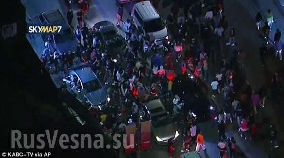 Погромы в Лос-Анджелесе: неуправляемая толпа диких пиндосов громит город | Русская весна