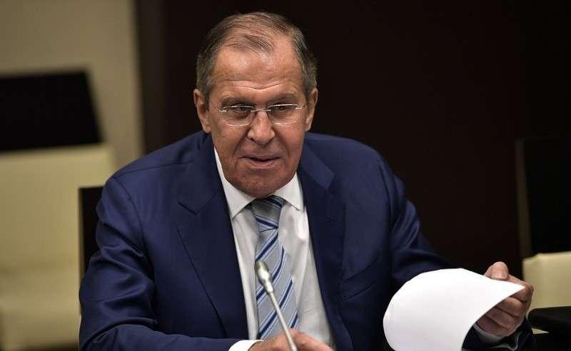 Министр иностранных дел Сергей Лавров перед началом совещания спостоянными членами Совета Безопасности.