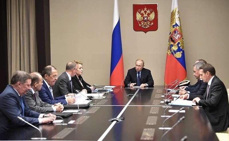 Совещание спостоянными членами Совета Безопасности.