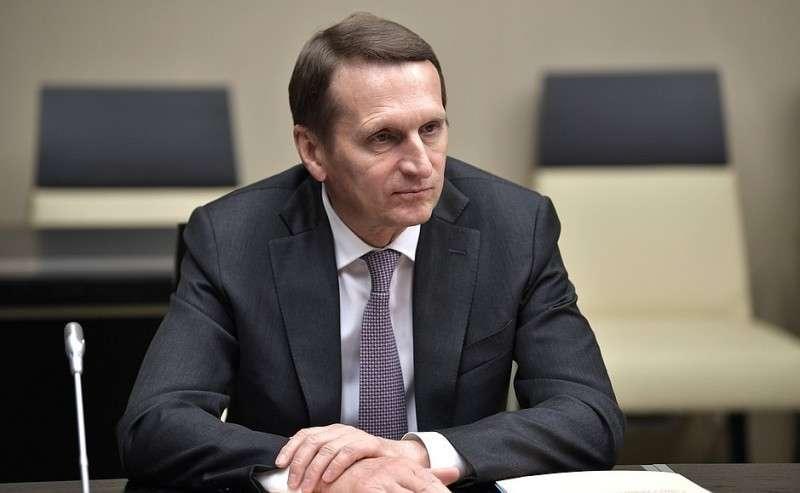 Директор Службы внешней разведки Сергей Нарышкин перед началом совещания спостоянными членами Совета Безопасности.