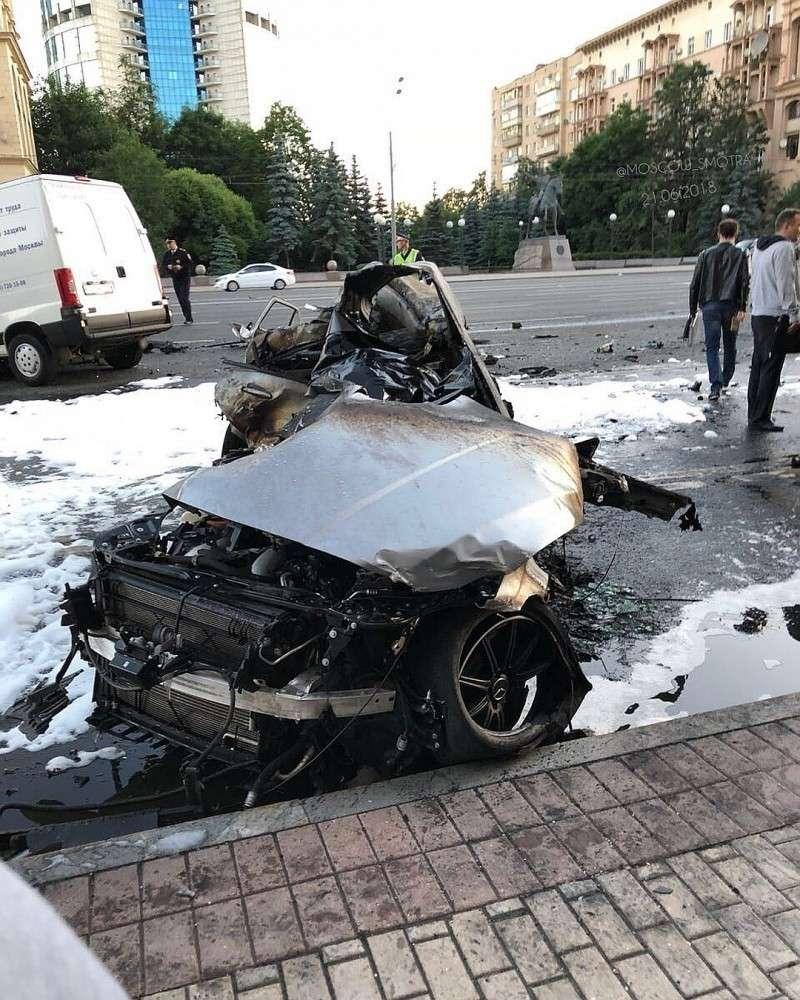 Очередное ДТП на Кутузовском: гонщики-мажоры из компании Мары Багдасарян сгорели заживо в