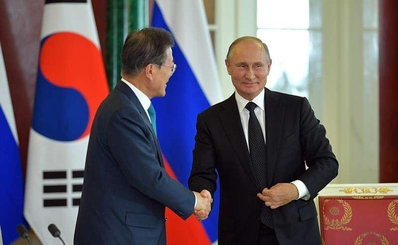СПрезидентом Республики Корея Мун Чжэ Ином.