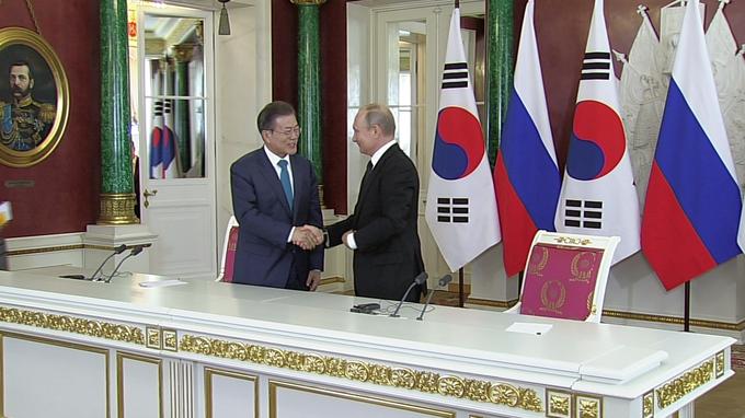 Заявления Владимира Путина и Мун Чжэ Ина поитогам российско-корейских переговоров