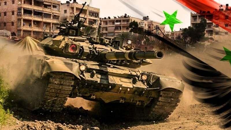 Сирия. Армия Асада уничтожает «котёл» с американскими наёмниками в районе Аль-Ладжат