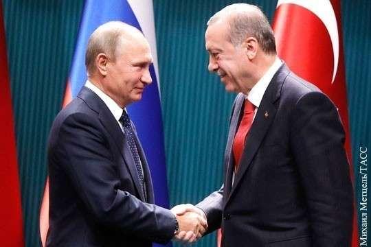 Владимир Путин направил Эрдогану поздравительную телеграмму с победой на выборах