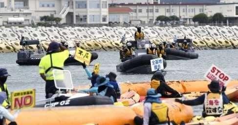 Японцы нанадувных лодках попытались прогнать армию пиндосов сОкинавы