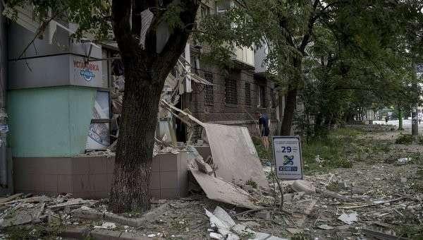 Киевские каратели обстреляли Донецк из «Градов»
