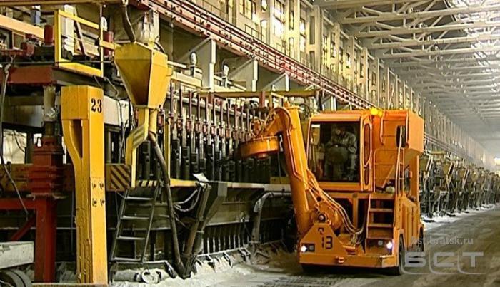 На Братский алюминиевый завод поступает новая техника отечественного производства