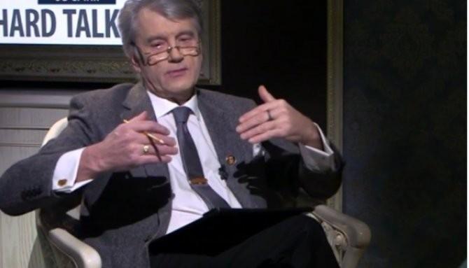 Хмурый жлоб Ющенко обвинил Россию в развязывании войн