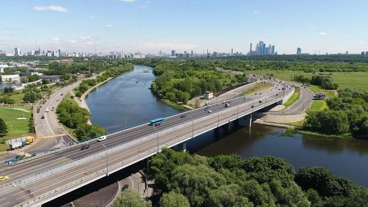 ВМоскве открыто движение поновому Крылатскому мосту