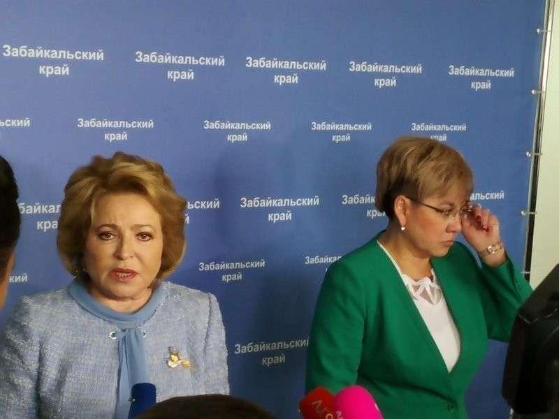 Матвиенко высказала претензии властям города Читы за грязный город