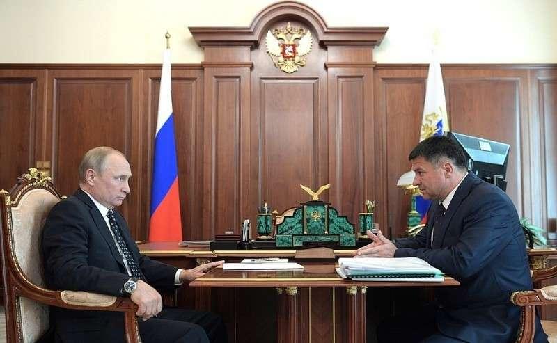 Рабочая встреча свременно исполняющим обязанности губернатора Приморского края Андреем Тарасенко.
