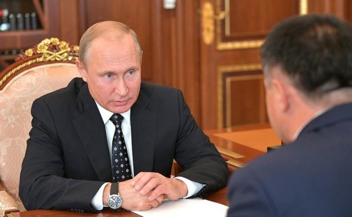 Владимир Путин провёл встречу сврио губернатора Приморского края Андреем Тарасенко