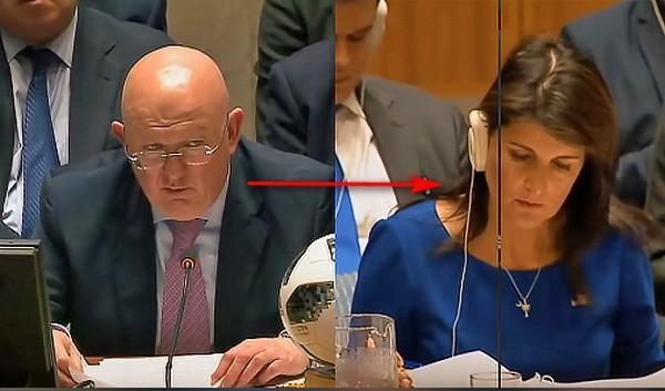 Василий Небензя в ООН взглядом обличил наглых пиндосов: «Кому же это выгодно?..»