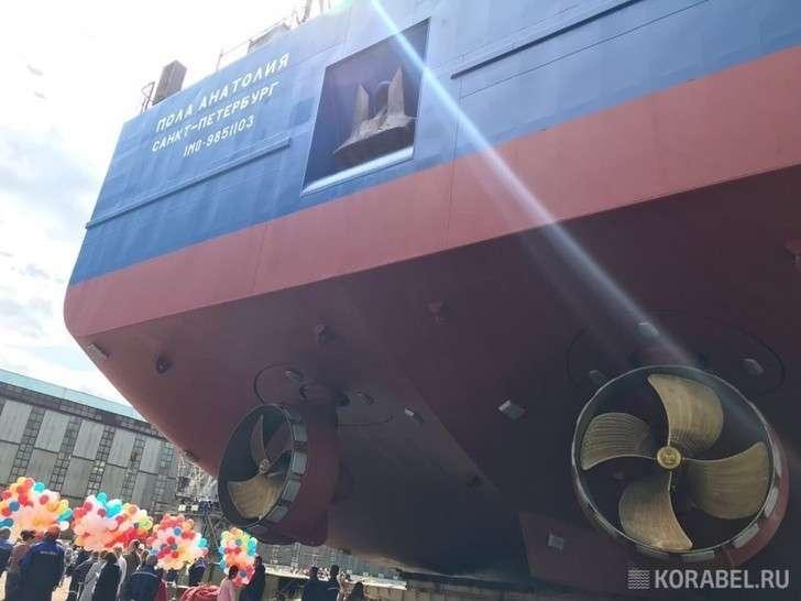 НаНевском ССЗ спустили наводу головное судно проекта RSD59
