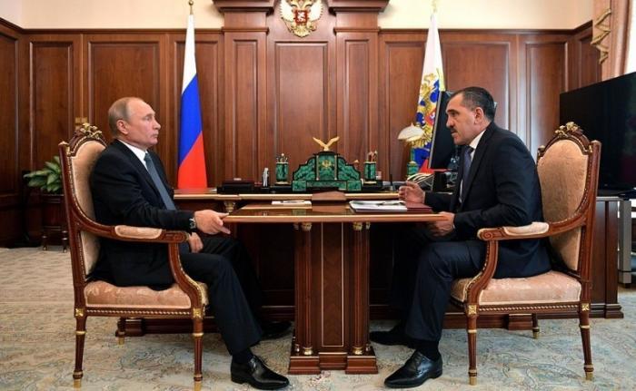 Владимир Путин провёл рабочую встречу сглавой Ингушетии Юнус-Беком Евкуровым