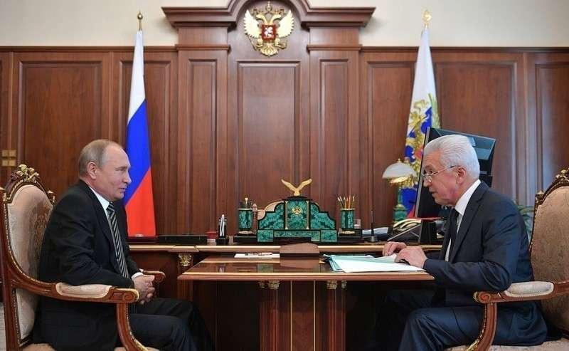 Встреча свременно исполняющим обязанности главы Республики Дагестан Владимиром Васильевым.