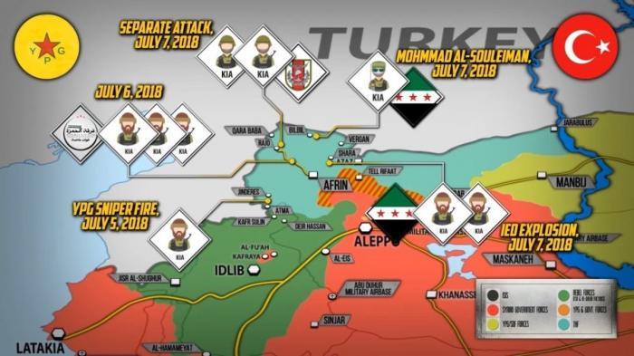 Сирия, Африн. Курды развязали партизанскую войну против Турции
