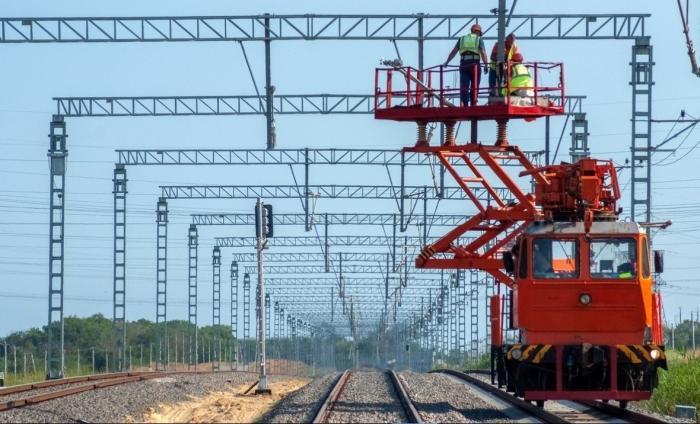 Со стороны Тамани уложено более 80% железнодорожного подхода кКрымскому мосту