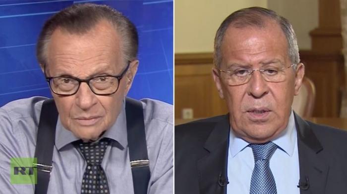 Сергей Лавров дал интервью ведущему программы PoliticKing на RT Ларри Кингу