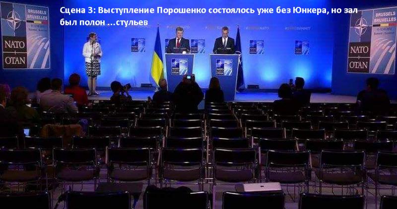 Фото-инфо-графика процесса спаивания Петром П. главы еврокомиссии Ж-К Юнкера
