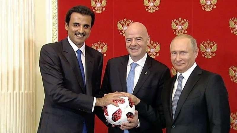 Церемония передачи Катару полномочий на проведение слудующего ЧМ