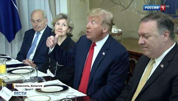 Дональд Трамп превратил саммит НАТО в собственное теле шоу