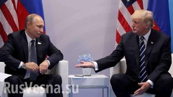 Владимир Путин и Дональт Трамп в Хельсинки решают судьбы мира, – сенатор США | Русская весна