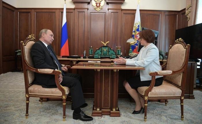 Владимир Путин провёл встречу с председателем Центрального банка Эльвирой Набиуллиной