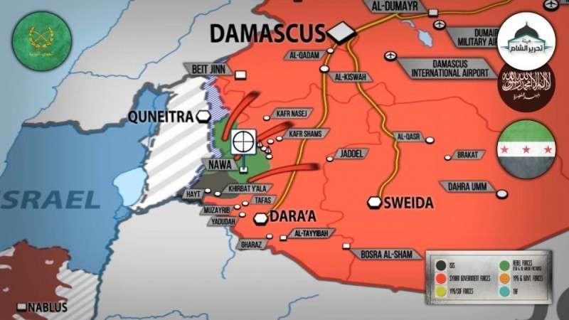 Сирия. Правительственная армия приближается к границам террористического Израиля