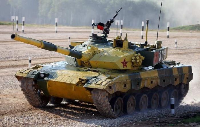 Китайские танки прибыли в Подмосковье на танковый биатлон