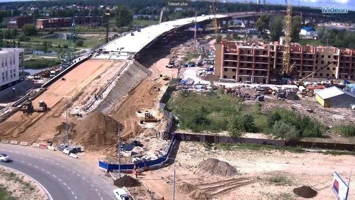 Мост через Волгу вподмосковной Дубне