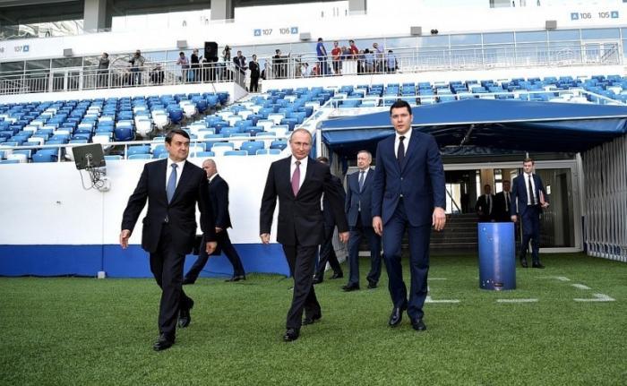 Посещение Президентом самого западного в России стадиона «Калининград»