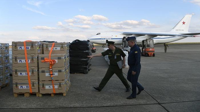 Русский АН-124 Руслан доставил в Сирию 44 тонны гумпомощи из Франции