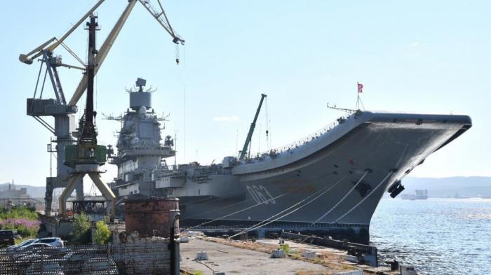 ТАВКР «Адмирал Кузнецов» времонте. Замена старых котлов