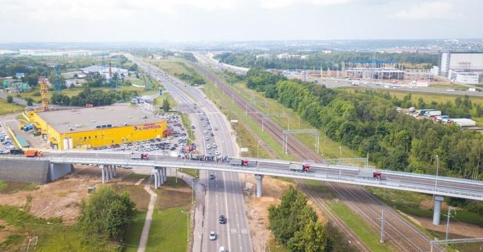 В Домодедове открыли новый путепровод через Каширское шоссе
