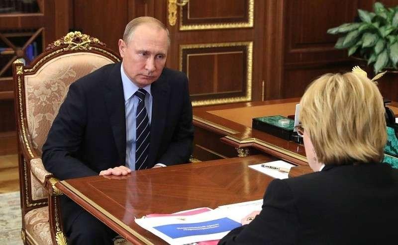 Входе рабочей встречи сМинистром здравоохранения Вероникой Скворцовой.