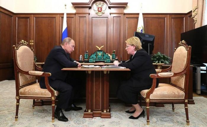 Владимир Путин провёл рабочую встречу с главой минздрава Вероникой Скворцовой