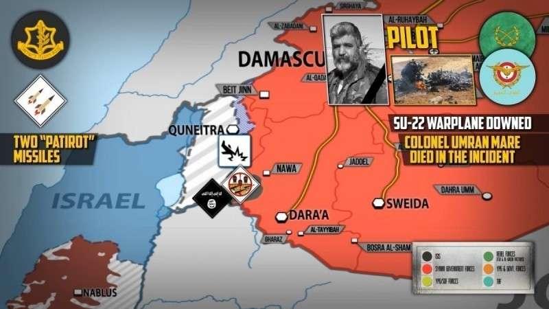 Сирия. Подробности уничтожения Су-22 над Голанскими высотами