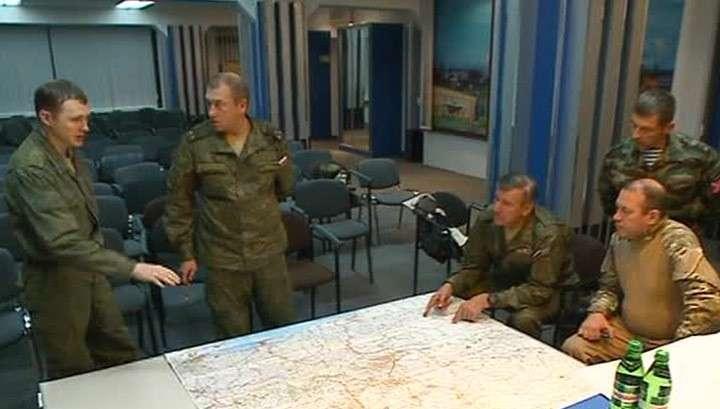 В Горловке впервые прошла встреча военных Украины, ДНР, ЛНР и России