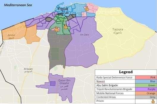 Несколько карт по Ливии (