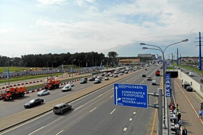 ВМоскве открыт новый разворотный тоннель ипереход наКалужском шоссе