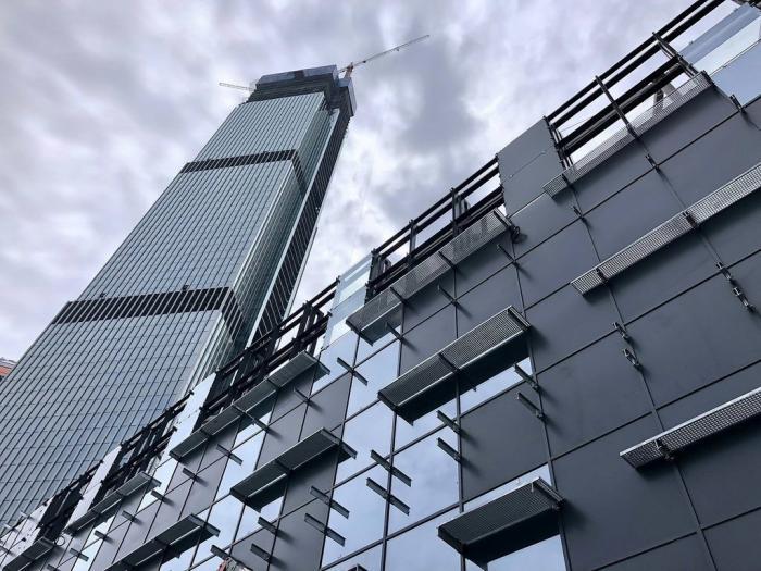 Ход строительства многоэтажных башен «Нева тауэрс» вМоскве